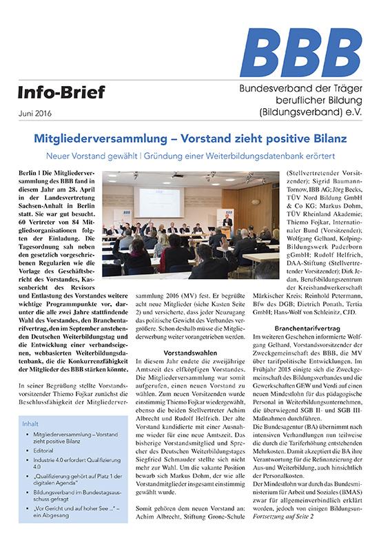 BBB-Info-Brief Juni 2016
