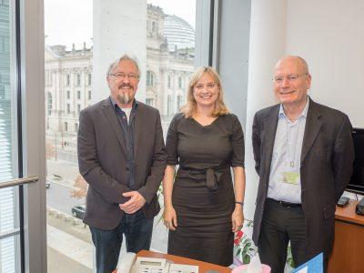 Marja-Liisa Völlers (SPD) mit Lutz Kaube und Walter Würfel (BBB)