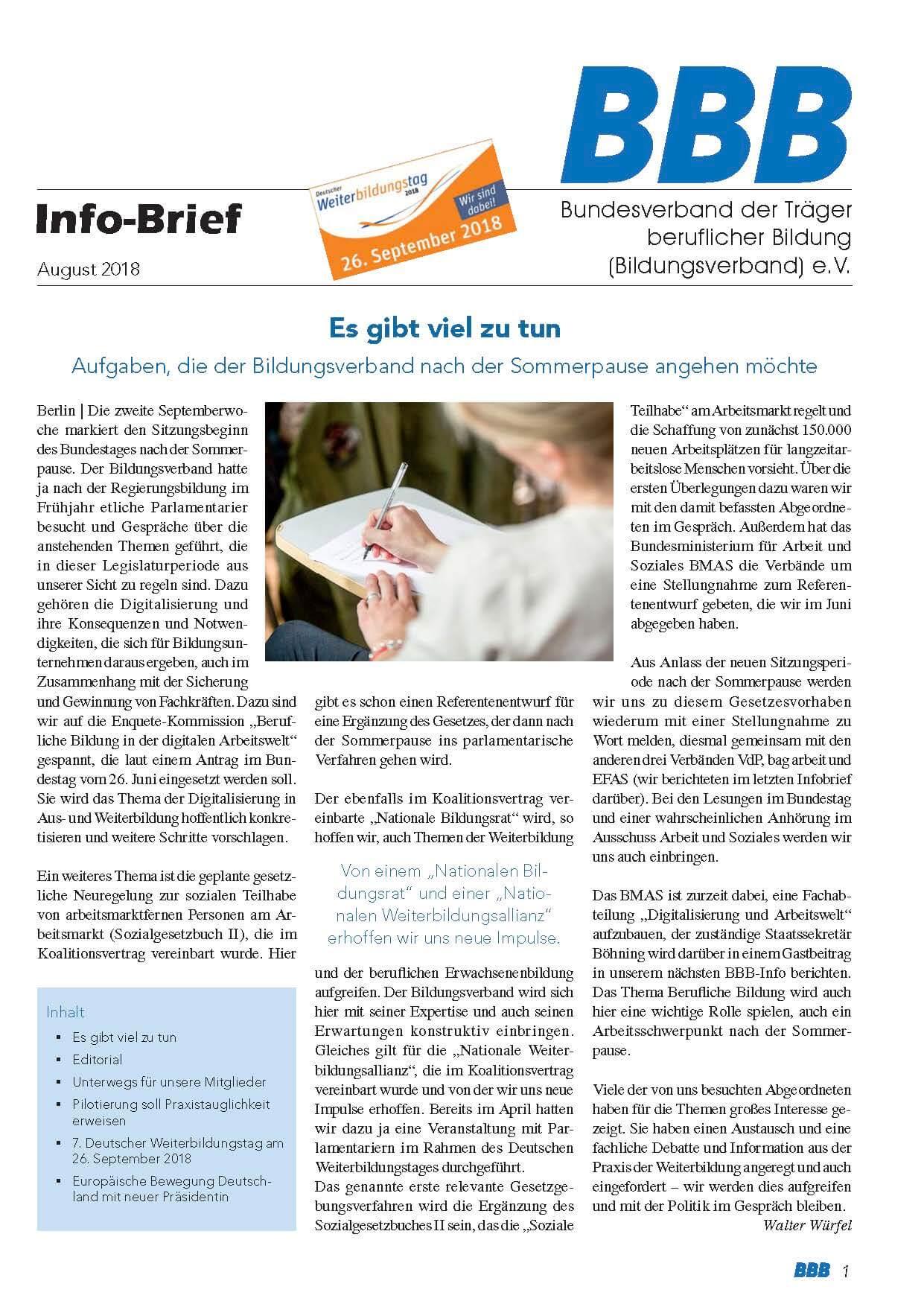 BBB-Info-Brief August Titel