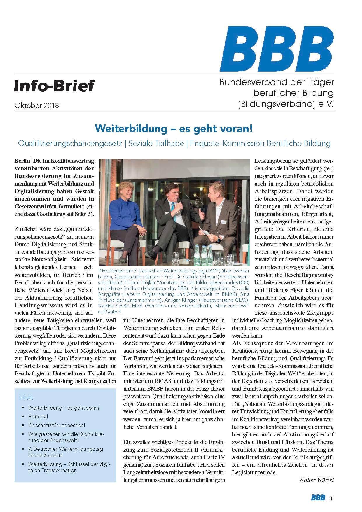 BBB-Info-Brief Oktober 2018