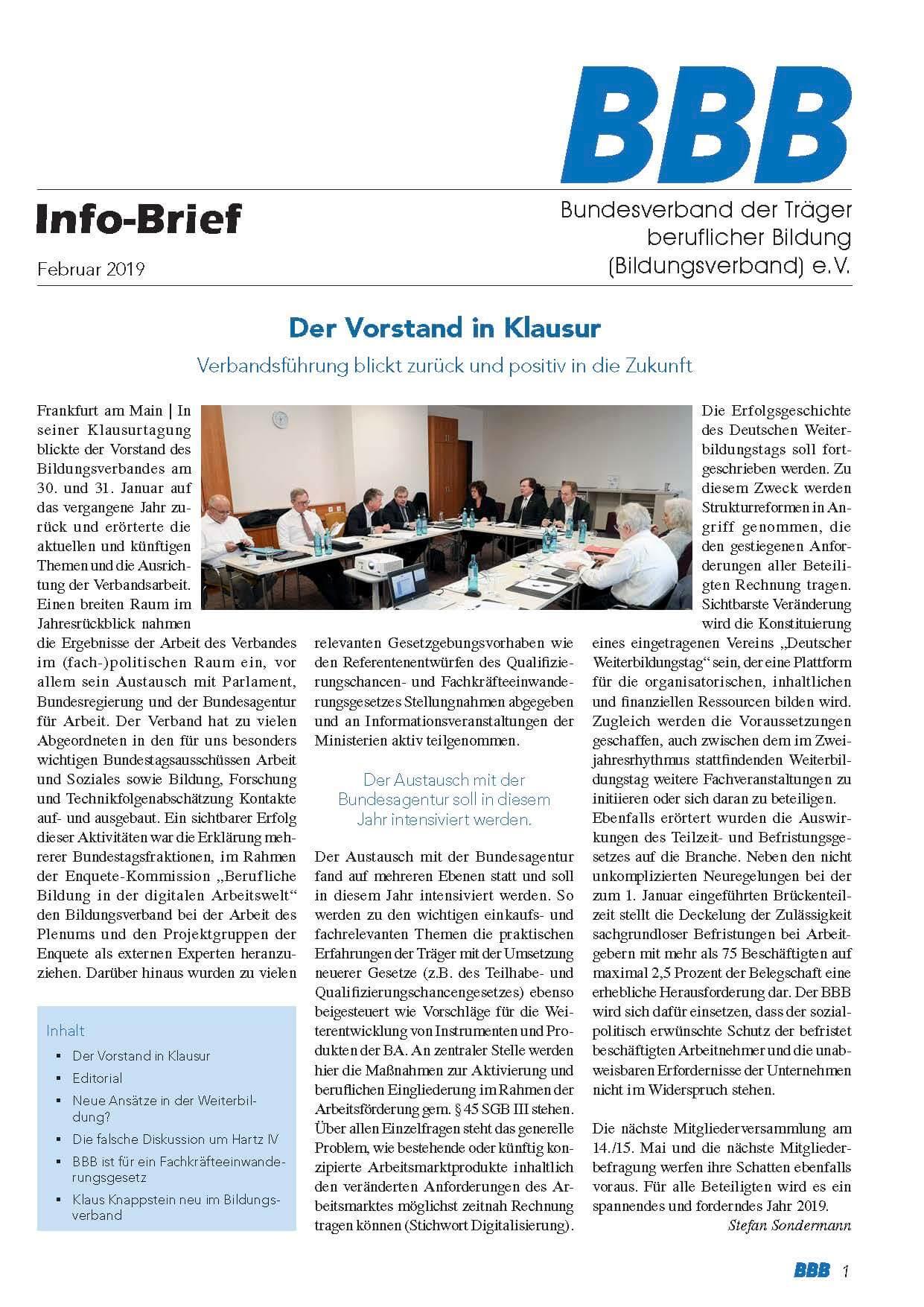 BBB-Info-Brief Februar 2019 Titel