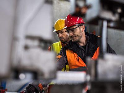 Metallarbeiter im Job